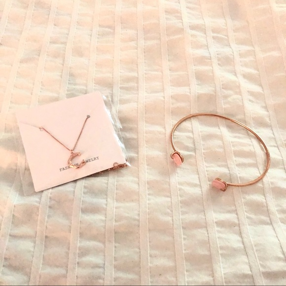 Set of two necklace & cuff bundle
